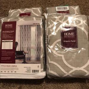 White & Grey Curtains